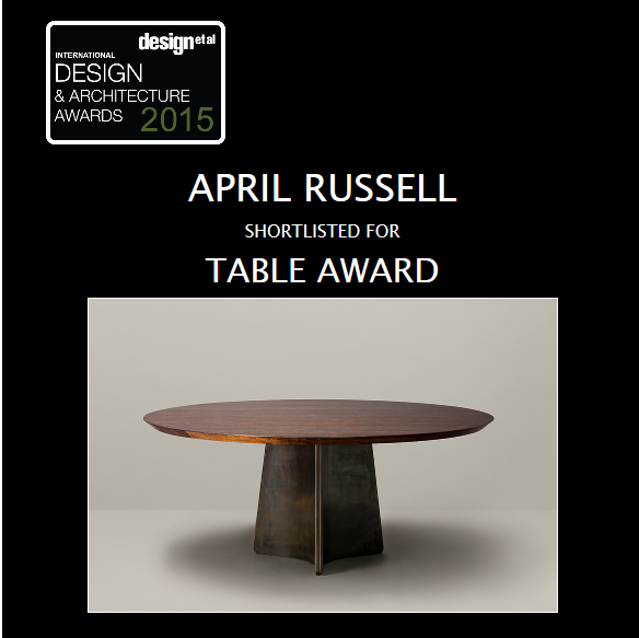 April Russell luxury interior design international product awards gregory dining table